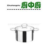 彩宝供应汤锅厨中厨不锈钢直身锅加盖加厚汤锅