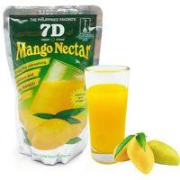 菲律宾进口芒果汁饮料冷藏更爽口  7D芒果汁200mlX60袋/箱 批发