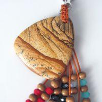 原创 天然图画石 水晶钥匙扣钥匙挂件挂饰 中国风饰品纪念品
