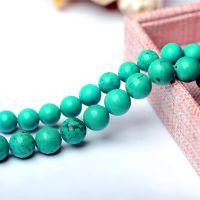 妃晶  DIY手工饰品配件串珠材料加色绿松石散珠串珠散珠批发