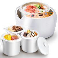 生活日记DDG-D658隔水陶瓷电炖锅电炖盅煮粥煲汤预约定时一锅四胆