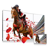 上海广告机厂家55寸3.9拼缝高亮屏拼接屏广告机
