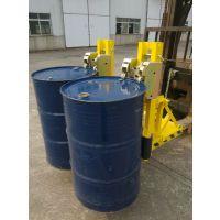 汉利2DCS轻型叉车夹桶器多少钱 油桶装卸夹具