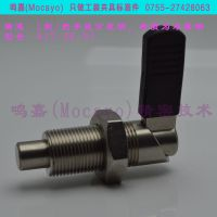 GN612-AK-NI|带定止位的把手式分度销|L型快锁插销|经济弹簧柱塞