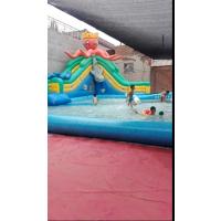 充气水上乐园的投资成本大不大 郑州哪里卖支架水池游乐园 攀爬水滑梯