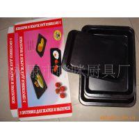 供应不粘烤盘托盘炊具配件 卷边三件套烤盘 组合菜式盘叠 PLATE