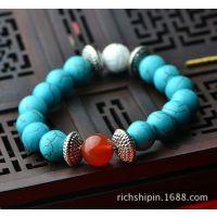 西藏藏饰绿松石手链 云南民族风小饰品首饰批发SL159
