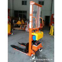 供应汕头(简易型)1吨1.6米半电动液压堆高车,升降装卸叉车