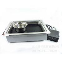 缘隆商用下排烟多人用下排烟电烤炉韩式烤肉炉烤肉机自助烤肉设备