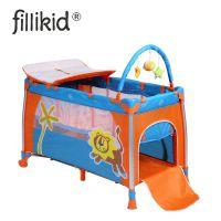 出口欧洲fillikid铝合金双层折叠婴儿床便携游戏床BB童床