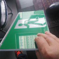 中为电子消防应急灯导光板 led指示牌亚克力导光板