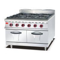 千麦YQM-RQ-6商用六头燃气煲仔炉连气焗炉 商用煲仔炉厨房设备