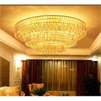 批发价三层蛋糕客厅水晶灯圆形 传统金色客厅吸顶灯LED卧室水晶灯