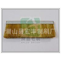 定制供应各类规格铜丝毛刷条 铝合金条刷 条形毛刷 铁皮条刷
