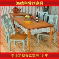 【厂家供应】方形实木餐桌椅  四人餐桌椅  中式餐厅餐桌椅