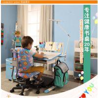 学习桌儿童书桌可升降实木书桌学习桌椅组合写字台松木学生书桌儿童桌椅