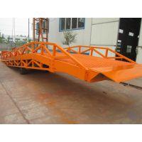 现货供应载重6t 移动液压登车桥 集装箱装卸平台 液压升降机厂家济南隆发升降机械