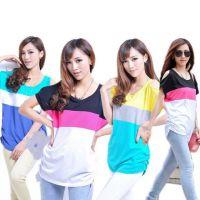 厂家供应便宜韩版女装套装批发 地摊夜市爆款韩版女T恤装货源