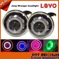 Jeep xenon hid headlight kit angel eyes and devil eyes halo hid headlight