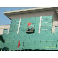 广东江门吊篮高空安装更换大块大板玻璃