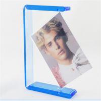 亚克力创意旋转相框 有机玻璃透明灰相框