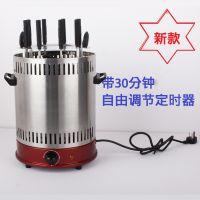 厂家供应:烤羊肉串电动烧烤炉 自动旋转定时款电烤炉(包邮)