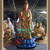 厂家供应寺院站鳄鱼观世音佛像,做莲花观音菩萨。