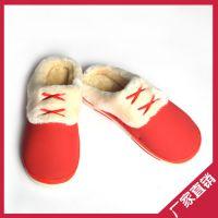 厂家直销毛绒棉拖鞋 冬季静音防滑家居拖鞋 韩版棉拖鞋批发