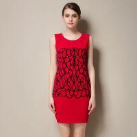 厂家直销新款欧美烫花性感包臀收腰背心连衣裙一件代发速卖通