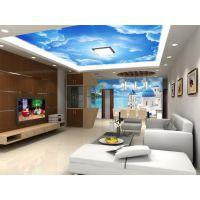 大型壁画 地中海风格海景城堡 3d立体卧室客厅沙发背景墙壁纸壁画 厂家直销