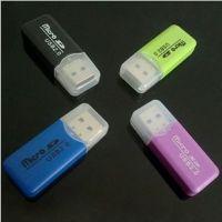 工厂批发 冰爽迷你读卡器 手机microSD卡 USB2.0 TF手机读卡器