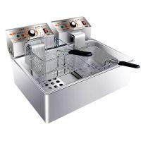 汇利单缸双筛(电热)炸炉HY-83EX电炸锅油炸炉单缸商用炸薯条炸鸡