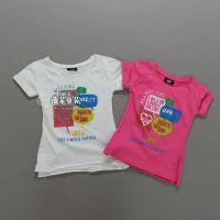 H家外贸原单童装批发 女童短袖t恤 印花女孩儿体恤 夏装实体供货