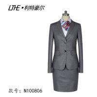 苏州白领女西服套裙装定做批发 65%聚酯纤维 款式时尚 韩版收腰