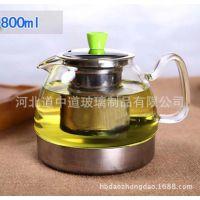 纯手工吹制 电磁炉专用壶 玻璃茶壶 高硼硅玻璃壶 厂家批发 800ml