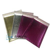 彩色镀铝膜气泡袋供应厂家,防震电子产品物流包装袋,国际物流信封袋订制