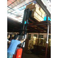 2吨全电动堆高车 PU转向轮电动叉车 高空作业平台
