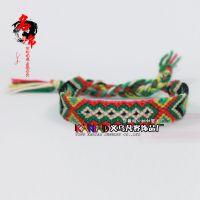 欧美尼泊尔编织友谊手链 手工编制民族风表带 速卖通编织饰品批发