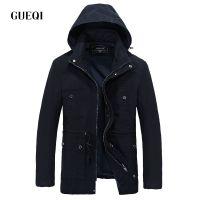 GUEQI 新品男式夹克批发 纯棉连帽外套加盟大牌加大码水洗上衣