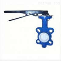 精拓阀门生产D71X/J手动对夹式衬胶蝶阀,电动蝶阀,价格DN100