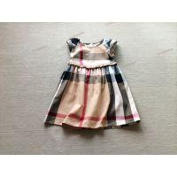 Erv035,15年夏季3色 3-8岁英伦学院风 柔软洗水梭织棉裙装