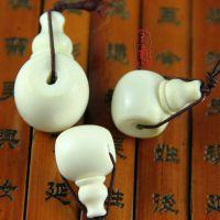 藏式天然鹿角盘三通佛头佛珠 手链手串配件。可佩星月。正月菩提