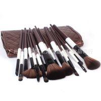 促销新款 MEGAGA化妆刷 18支间棉 棕色刷包 纤维毛套装 厂家直销