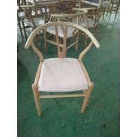 餐厅实木椅 Y型椅 水曲柳实木椅 广州厂家定做 行一家具 简约现代