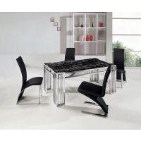广东家具厂 佛山五金家具厂家 不锈钢餐台椅系列。