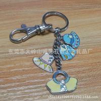 个性小清新服饰钥匙链 串链滴胶钥匙圈 女式包包挂件直销订制批发