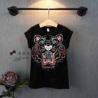 2015韩国童装 夏季新款老虎头无袖中长款背心T恤衫 打底衫 0.61