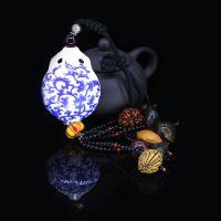 十八子 高档青花陶瓷葫芦茶壶汽车内饰挂件 招财车挂代理加盟
