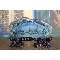 水晶浮雕摆件东方明珠摆件办公室家居装饰工艺品招财摆设开业礼品