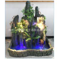 假山流水喷泉水景室内山水景观树脂假山客厅装饰开业旺财鱼池SY9
